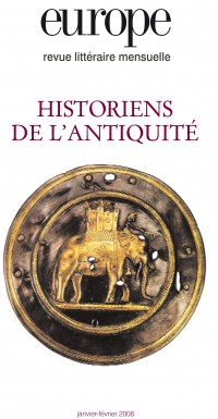 Couverture de Historiens de l'Antiquité
