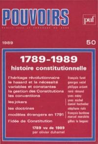1789-1989, histoire constitutionnelle, 50 -  1989 «Pouvoirs» |
