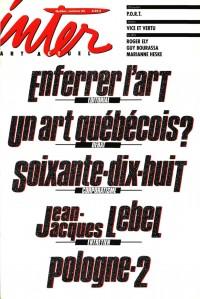Un art québécois?