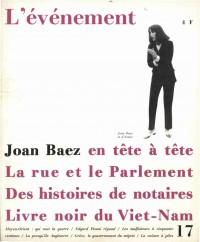 Joan Baez en tête à tête, 17 -  1967 «L'événement» |