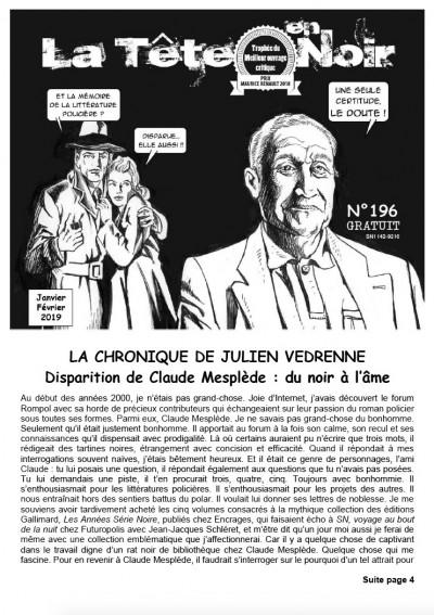 Disparition de Claude Mesplède : du noir à l'âme