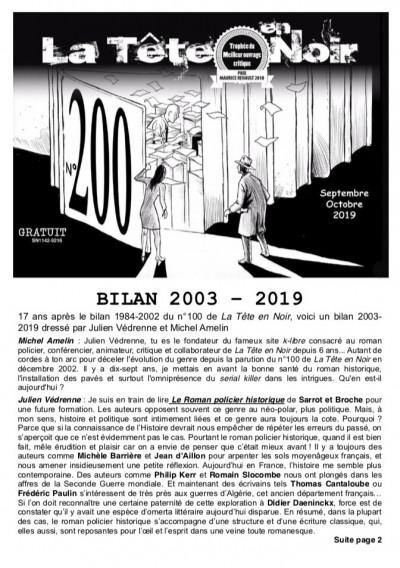 Bilan 2003-2019