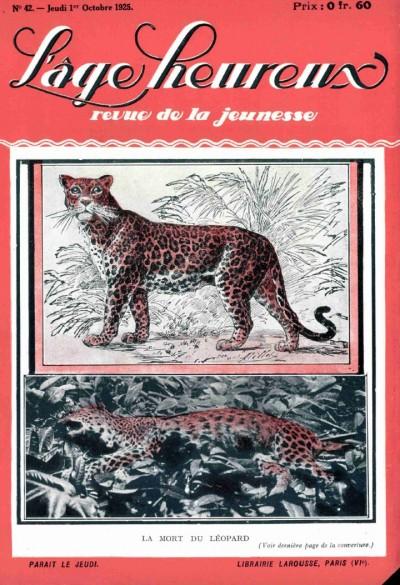 Couverture de La mort du léopard