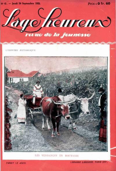 Jaquette Les vendanges en Roumanie
