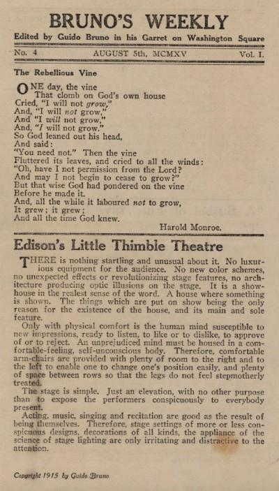 Edison's Little Thimble Theatre
