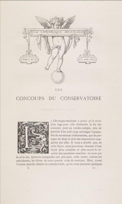 Les concours du Conservatoire