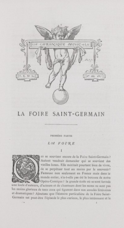Jaquette La Foire Saint-Germain