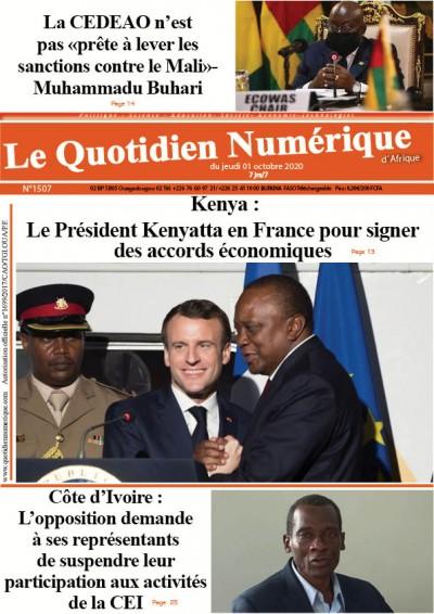 Kenya:Le Président Kenyatta en France