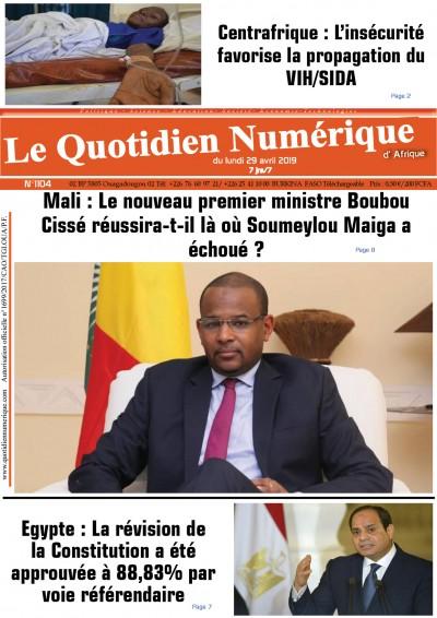 Mali : Le nouveau premier ministre Boubou Cissé