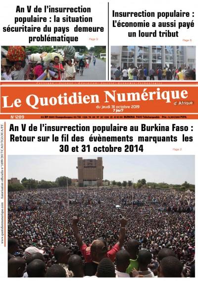 An V de l'insurrection populaire au Burkina Faso